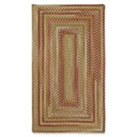 Capel Rugs Manchester Braided 5' x 8' Area Rug in Red/Beige