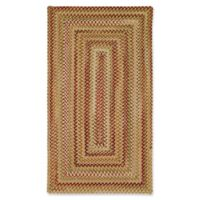 Capel Rugs Manchester Braided 5' x 8' Area Rug in Gold/Red
