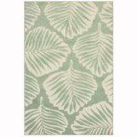 Oriental Weavers Barbados 3'3 x5' Indoor/Outdoor Area Rug in Green
