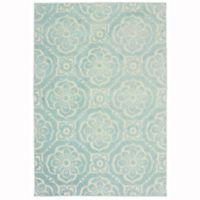 Oriental Weavers Barbados 3'3 x 5' Indoor/Outdoor Area Rug in Blue