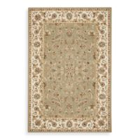 Safavieh Chelsea Collection Wool 4-Foot Round Rug in Ivory and Sage