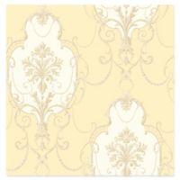 Lucinda Cameo Wallpaper in Yellow