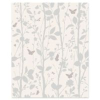 Fine Décor Dazzle Meadow Butterfly Wallpaper in Silver