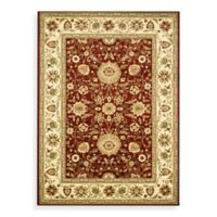 Safavieh Lyndhurst Collection 8-Foot x 8-Foot Square Rug in Red and Ivory