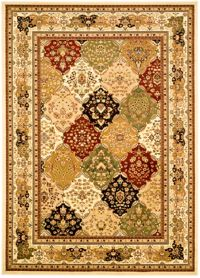 Safavieh Lyndhurst Diamond Patchwork 5-Foot 3-Inch x 7-Foot 6-Inch Rug in Ivory/Multi