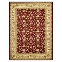 Safavieh Lyndhurst Red and Ivory Scrolling Pattern 8-Foot x 8-Foot Square Rug