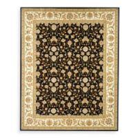 Safavieh Lyndhurst Black Scroll Pattern 8' Square Rug