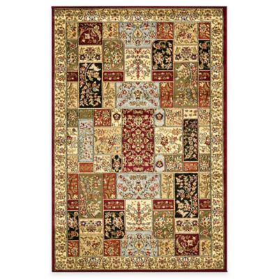 Safavieh Lyndhurst Floral Patchwork 8-Foot x 8-Foot Round Rug in Tan - Buy 8-Foot Round Rug From Bed Bath & Beyond