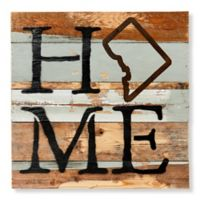 """Sweet Bird & Co. Reclaimed Wood """"Home"""" 14-Inch Square Wall Art"""