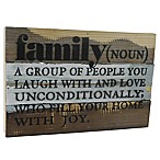 "Sweet Bird & Co. Reclaimed Wood ""Family (Noun)"" 12-Inch x 8-Inch Wall Art"