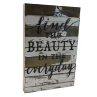 "Sweet Bird & Co. ""Find the Beauty in the Everyday"" 12-Inch x 18-Inch Wall Art"