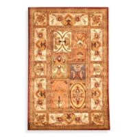 Safavieh Classic Patchwork 8-Foot Square Wool Rug in Amber