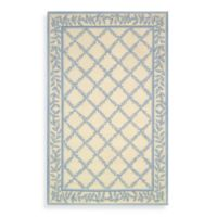 Safavieh Chelsea Wool 1-Foot 8-Inch x 2-Foot 6-Inch Accent Rug in Ivory and Light Blue