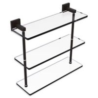 Allied Brass Montero Collection 16-Inch Triple-Tiered Glass Shelf in Oil Rubbed Bronze