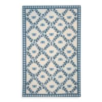 Safavieh Chelsea Collection 7-Foot 6-Inch x 9-Foot 6-Inch Wool Oval Rug in Light Blue