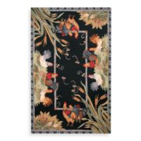 Safavieh Chelsea Black Hens Wool 5-Foot 3-Inches x 8-Foot 3- Inches Rectangle Rug