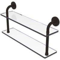 Allied Brass Remi Collection 22-Inch 2-Tiered Glass Shelf in Oil Rubbed Bronze