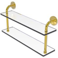 Allied Brass Remi Collection 22-Inch 2-Tiered Glass Shelf in Polished Brass