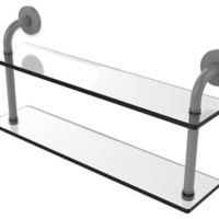 Allied Brass Remi Collection 22-Inch 2-Tiered Glass Shelf in Matte Grey