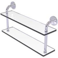 Allied Brass Remi Collection 22-Inch 2-Tiered Glass Shelf in Polished Chrome
