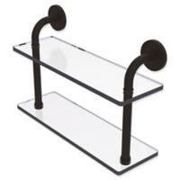 Allied Brass Remi Collection 16-Inch 2-Tiered Glass Shelf in Oil Rubbed Bronze