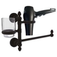 Allied Brass Dottingham Collection Hair Dryer Holder and Organizer in Oil Rubbed Bronze