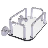 Allied Brass Dottingham Wall Mounted Guest Towel Holder in Polished Chrome