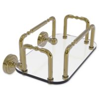 Allied Brass Dottingham Wall Mounted Guest Towel Holder in Unlacquered Brass