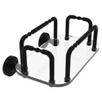 Allied Brass Dottingham Wall Mounted Guest Towel Holder in Matte Black