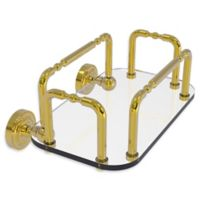 Allied Brass Dottingham Wall Mounted Guest Towel Holder in Polished Brass