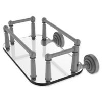 Allied Brass Dottingham Collection Wall Mounted Glass Guest Towel Tray in Matte Grey