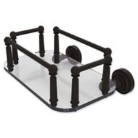 Allied Brass Dottingham Collection Wall Mounted Glass Guest Towel Tray in Oil Rubbed Bronze
