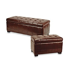 Safavieh Hudson Leather Large Manhattan Storage Bench