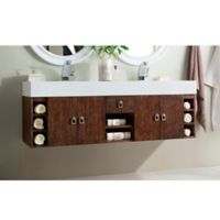 James Martin Furniture Tiburon 59-Inch Double Vanity in Coffee Oak