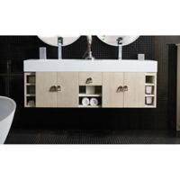 "James Martin Furniture Tiburon 59"" Double Vanity in Vanilla Oak"