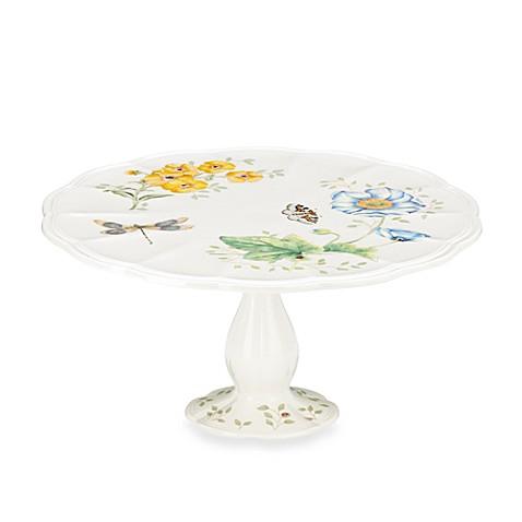 Lenox Butterfly Meadow Medium Pedestal Cake Plate Bed Bath Beyond