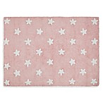 Lorena Canals Stars 4'x5' Area Rug in Pink/White