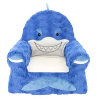 Sweet Seats® Plush Shark Chair in Blue
