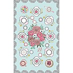 Tinseltot Tea Party 5' x 8' Rug Topper in Mint