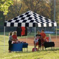 ShelterLogic Pro Series 10-Foot x 10-Foot Straight Leg Canopy in Black/White Checkered Flag