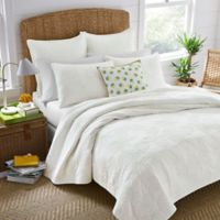 Nine Palms Antigua Twin Quilt Set in White