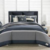 Nautica® Rendon Twin Duvet Cover Set in Charcoal
