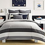 Nautica® Signal Stripe King Duvet Cover Set in Charcoal