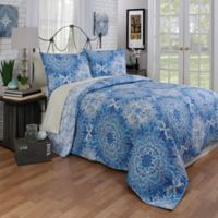 Stardust Reversible Twin Quilt in Blue