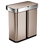 simplehuman® 58-Liter Dual Compartment Voice & Motion Sensor Trash Can in Rose Gold
