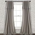Lush Décor Ivy Tassel 84-Inch Rod Pocket/Back Tab Window Curtain Panel Pair in Grey