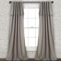Ivy Tassel 84-Inch Rod Pocket/Back Tab Window Curtain Panel Pair in Grey