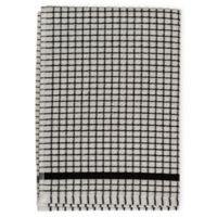 Cotton Checkered Kitchen Towel in Black