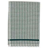 Cotton Checkered Kitchen Towel in Hunter Green