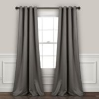 Lush Décor Insulated 95-Inch Grommet Room Darkening Window Curtain Panels in Dark Grey